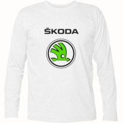 Купить Футболка с длинным рукавом Skoda Bird, FatLine