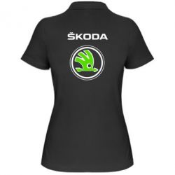 Женская футболка поло Skoda Bird - FatLine