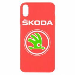 Чехол для iPhone X/Xs Skoda Bird
