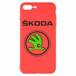 Чехол для iPhone 8 Plus Skoda Bird