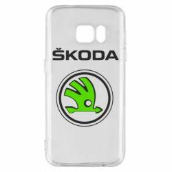 Чехол для Samsung S7 Skoda Bird