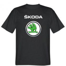 Мужская футболка Skoda Logo 3D - FatLine