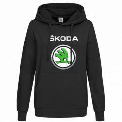 Женская толстовка Skoda Logo 3D - FatLine