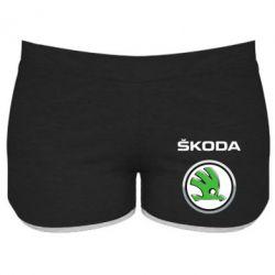 Женские шорты Skoda Logo 3D - FatLine