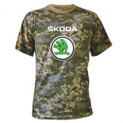 Камуфляжная футболка Skoda Logo 3D - FatLine