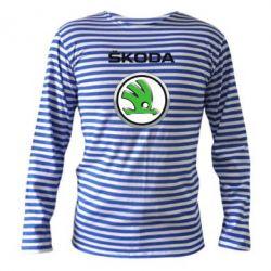 Тельняшка с длинным рукавом Skoda Logo 3D - FatLine