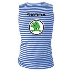 Майка-тельняшка Skoda Logo 3D - FatLine