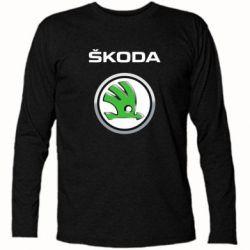 Футболка с длинным рукавом Skoda Logo 3D - FatLine