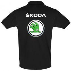 Футболка Поло Skoda Logo 3D