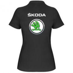 Женская футболка поло Skoda Logo 3D - FatLine