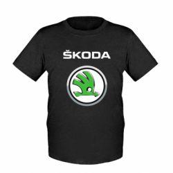 Детская футболка Skoda Logo 3D - FatLine