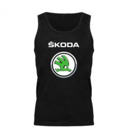 Мужская майка Skoda Logo 3D - FatLine