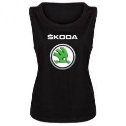 Женская майка Skoda Logo 3D - FatLine