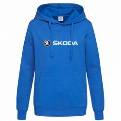 Женская толстовка Skoda logo - FatLine