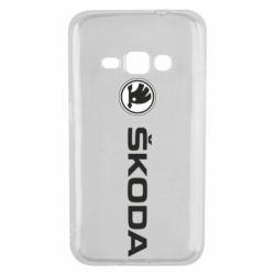 Чехол для Samsung J1 2016 Skoda logo