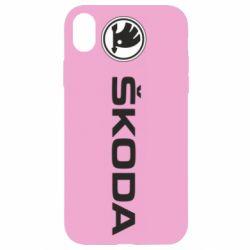 Чехол для iPhone XR Skoda logo