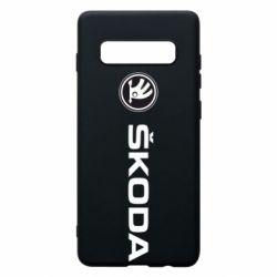Чехол для Samsung S10+ Skoda logo