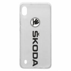 Чехол для Samsung A10 Skoda logo