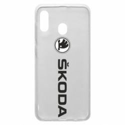 Чехол для Samsung A30 Skoda logo