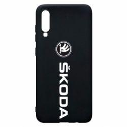 Чехол для Samsung A70 Skoda logo