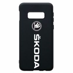 Чехол для Samsung S10e Skoda logo