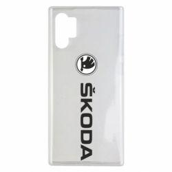 Чехол для Samsung Note 10 Plus Skoda logo
