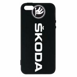 Чехол для iPhone5/5S/SE Skoda logo