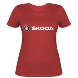 Женская Skoda logo - FatLine