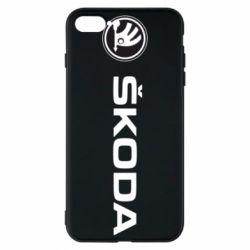 Чехол для iPhone 8 Plus Skoda logo