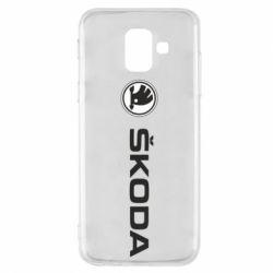 Чехол для Samsung A6 2018 Skoda logo
