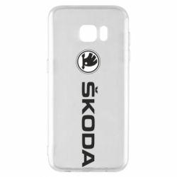Чехол для Samsung S7 EDGE Skoda logo