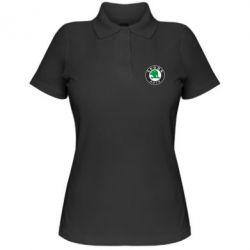 Женская футболка поло Skoda Small - FatLine