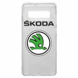 Чехол для Samsung S10+ Skoda