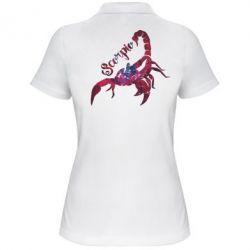 Женская футболка поло Скорпион звезды