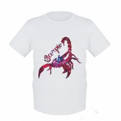 Детская футболка Скорпион звезды