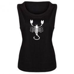 Женская майка скорпион - FatLine
