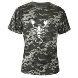 Камуфляжная футболка скорпион - FatLine