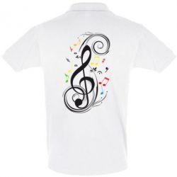 Мужская футболка поло Скрипичный ключ