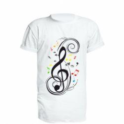Удлиненная футболка Скрипичный ключ