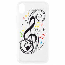 Чехол для iPhone XR Скрипичный ключ
