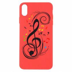 Чехол для iPhone Xs Max Скрипичный ключ