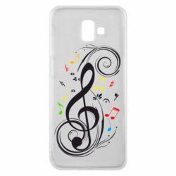 Чехол для Samsung J6 Plus 2018 Скрипичный ключ