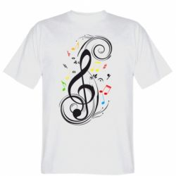Мужская футболка Скрипичный ключ