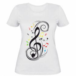 Женская футболка Скрипичный ключ