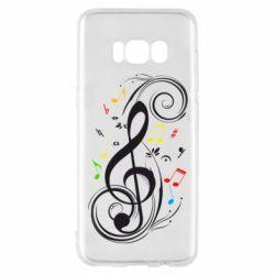 Чехол для Samsung S8 Скрипичный ключ