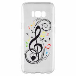 Чехол для Samsung S8+ Скрипичный ключ
