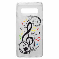 Чехол для Samsung S10+ Скрипичный ключ