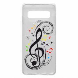 Чехол для Samsung S10 Скрипичный ключ