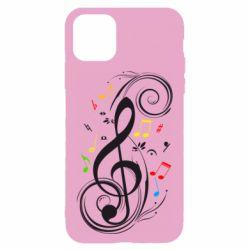 Чехол для iPhone 11 Скрипичный ключ