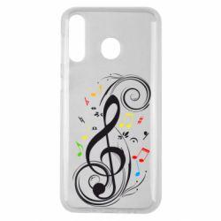 Чехол для Samsung M30 Скрипичный ключ